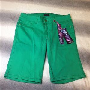 Brand new green shorts never worn with tags